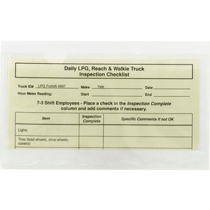 68185 Clear Self-Adhesive Poly Pockets