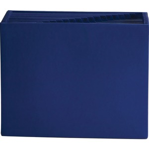 "Smead Expanding File without Flap - 0.88"" Expansion - 8.5"" x 11"" - Letter - 1 Each - Navy Blue"