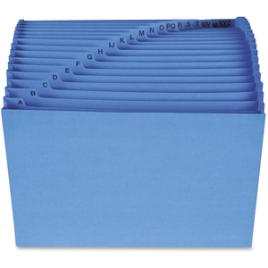 70727 Blue A-Z Expanding File with Antimicrobial Product Protect