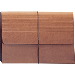 "Smead Expanding Width File Folder Wallet - Legal - 8.5"" x 14""Top - 5.25"" Expansion - 1 Each - 11pt. - Red"