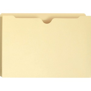 "Smead Manila File Jacket - Legal - 8.5"" x 14"" - Straight Tab Cut - 2"" Expansion - 50 / Box - 11pt. - Manila"