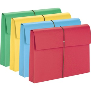 "Smead Expanding School Wallet - 10"" x 15"" - 2"" Expansion - 50 / Box - 11pt. - Yellow, Blue, Green, Red"