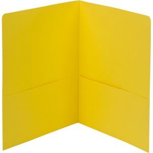 "Smead Two Pocket Portfolio - Letter - 8.5"" x 11"" - 0.5"" Capacity - 25 / Box - Yellow"