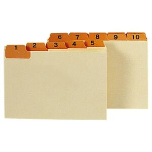 "Smead Daily Indexed Card Guides - 31 x Tab Printed 1 - 31 - 5 Tab(s)/Set - 5"" x 3"" - 31 / Set - Manila Divider - Orange Tab"