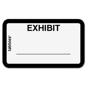 "Tabbies Legal Exhibit Label - 1.62"" Width x 1"" Length - 252 / Pack"