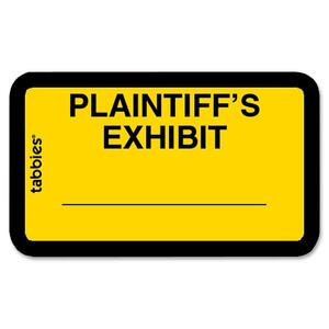 "Tabbies Legal Plaintiff's Exhibit Label - 1.62"" Width x 1"" Length - 252 / Pack"