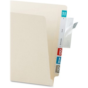 Light Blue File Folder Label