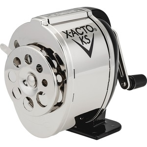 X-Acto Boston Model KS Pencil Sharpener - Desktop - 8 Hole(s) - Silver