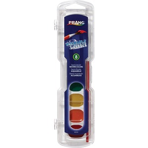 Dixon Washable 8-Color Semi-Moist Cake Watercolor - 3.1 mL - Assorted