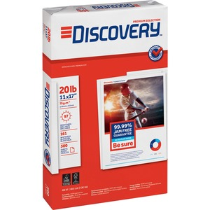 "Discovery Premium Selection Multipurpose Paper - Ledger - 11"" x 17"" - 20lb - 97 GE/110 ISO Brightness - 2500 / Carton - White"