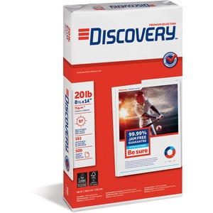 "Discovery Premium Selection Multipurpose Paper - Legal - 8.5"" x 14"" - 20lb - 97 GE/110 ISO Brightness - 5000 / Carton - Bright White"