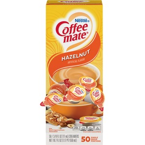 Coffee-mate® Hazelnut Creamer, .375oz, 50/Box