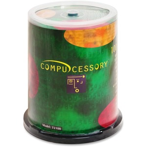 Compucessory CD Recordable Media - CD-R - 52x - 700 MB - 100 Pack Spindle CCS72100