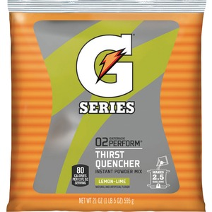 Quaker Oats Gatorade Thirst Quencher Mix Pouch - Lemon Lime - 21oz - Powder - 1 Pack - Green