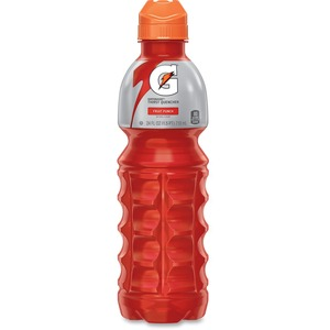 Quaker Oats Gatorade Thirst Quencher Energy Drink - Fruit Punch - 24 fl oz - Ready-server - 24/Carton - Red