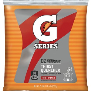 Quaker Oats Gatorade Thirst Quencher Mix Pouch - Fruit Punch - 21oz - Powder - 1 Pack - Red