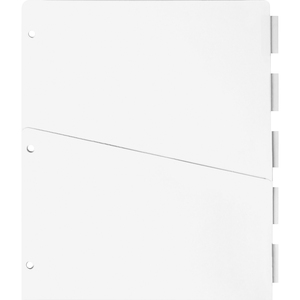 "Sparco Ring Binder Pocket Tab Divider - 5 x Tab - 8.5"" x 11"" - 5 / Set - Clear Tab"