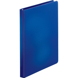 "Sparco Round Ring Binder - Letter - 8.5"" x 11"" - 0.5"" Capacity - 1 Each - Dark Blue"