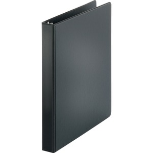 "Sparco Vinyl Ring Binder - Letter - 8.5"" x 11"" - 1"" Capacity - 1 Each - Black"