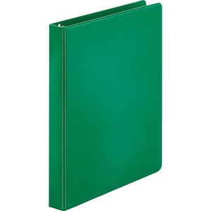 "Sparco Round Ring Binder - Letter - 8.5"" x 11"" - 1"" Capacity - 1 Each - Green"