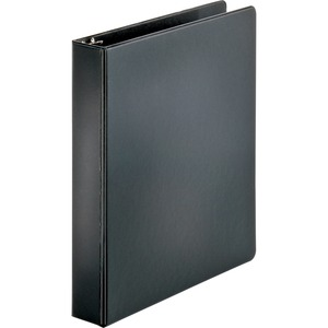 "Sparco Round Ring Binder - Letter - 8.5"" x 11"" - 1.5"" Capacity - 1 Each - Black"