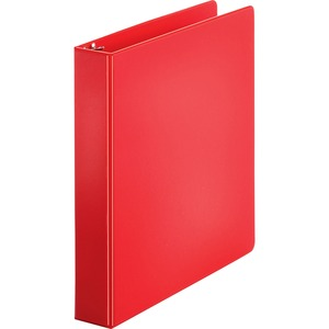 "Sparco Round Ring Binder - Letter - 8.5"" x 11"" - 1.5"" Capacity - 1 Each - Red"