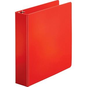 "Sparco Round Ring Binder - Letter - 8.5"" x 11"" - 2"" Capacity - 1 Each - Red"