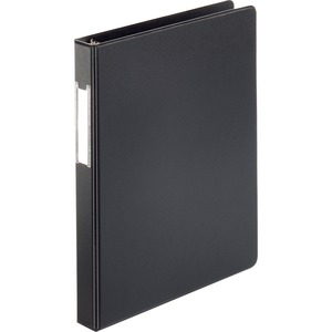 "Sparco Round Ring Binder - Letter - 8.5"" x 11"" - 1"" Capacity - 1 Each - Black"