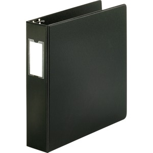 "Sparco Round Ring Binder - Letter - 8.5"" x 11"" - 2"" Capacity - 1 Each - Black"