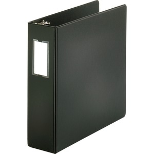 "Sparco Round Ring Binder - Letter - 8.5"" x 11"" - 3"" Capacity - 1 Each - Black"
