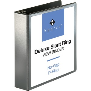Sparco Deluxe Slant Ring View Binder SPR62468