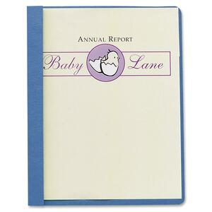 Light Blue. Clear Front. Report Cover
