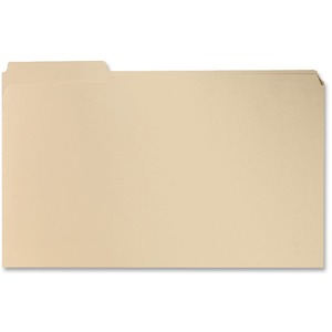 "Sparco Two-Ply File Folder - Legal - 8.5"" x 14"" - 1/3 Tab Cut on Assorted Position - 0.75"" Expansion - 100 / Box - 11pt. - Manila"
