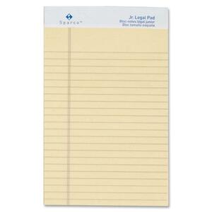 "Sparco Ivory Ruled Jr.Legal Pad - 50 Sheet(s) - 16lb - Legal/Narrow Ruled - Jr.Legal 5"" x 8"" - 12 / Dozen - Ivory"