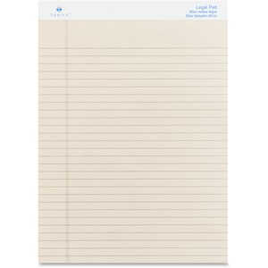 "Sparco Ivory Ruled Legal Pad - 50 Sheet(s) - 16lb - Legal/Narrow Ruled - 8.5"" x 11.75"" - 12 / Dozen - Ivory"