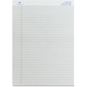 "Sparco Gray Legal Ruled Pad - 50 Sheet(s) - 16lb - Legal/Narrow Ruled - 8.5"" x 11.75"" - 12 / Dozen - Gray"