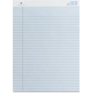 "Sparco Orchid Legal Ruled Pad - 50 Sheet(s) - 16lb - Legal Ruled - 8.5"" x 11.75"" - 12 / Dozen - Orchid"