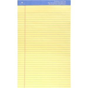 "Sparco Premium Grade Perforated Legal Ruled Pad - 50 Sheet(s) - 16lb - Legal Ruled - Legal 8.5"" x 14"" - 1 Each - Canary"