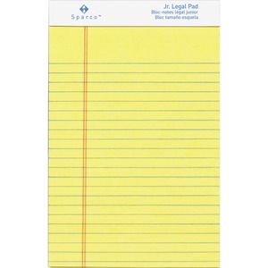 Sparco Junior Legal-Ruled Canary Writing Pads SPR2058
