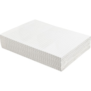 "Sparco Ruled Memorandum Pad - 50 Sheet(s) - 16lb - Narrow Ruled - Letter 8.5"" x 11"" - 12 / Dozen - White"