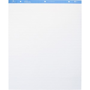 "Sparco Ruled Easel Pads - 50 Sheet(s) - 15lb - Ruled - 27"" x 34"" - 2 / Carton - White"