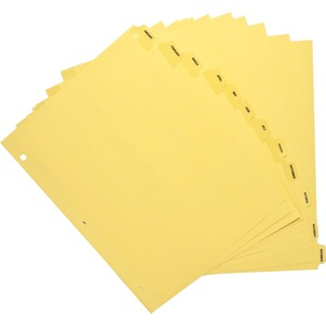 Sparco Monthly Clear Plastic Index Dividers SPR01807
