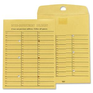 "Sparco Inter Department Envelope - 10"" x 13"" - 28lb - Self-sealing - 100 / Box - Kraft"