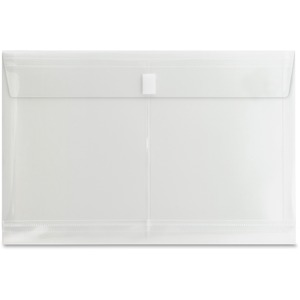 "Sparco String-A-Long Poly-Hide Envelope - 1"" Expansion - 8.5"" x 14"" - Legal - 1 Each - Clear"