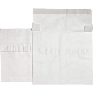 "Sparco Plain Open End Tyvek Expansion Envelope - 12"" x 16"" - Tyvek - 50 / Carton - White"