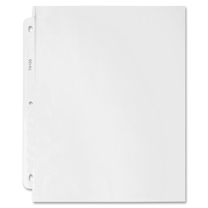 "Sparco Top Loading Sheet Protector - 9"" x 11"" - Rectangular - For Ring Binder - 100 / Box - Clear"