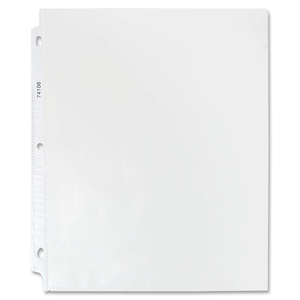 "Sparco Top Loading Sheet Protector - 9"" x 11"" - Rectangular - For Ring Binder - 50 / Box - Clear"