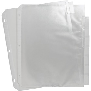 Sparco Top Loading Sheet Protectors with Index Tab - For Index Tab - Polypropylene - 8 / Set - Clear