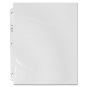 "Sparco Top-Loading Sheet Protector - 9"" x 11"" - Rectangular - For Ring Binder - Polypropylene - 100 / Box - Clear"