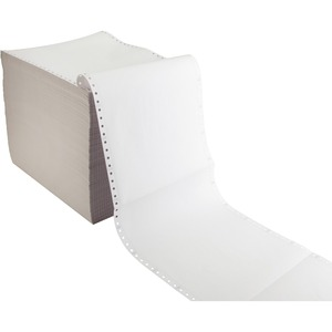 "Sparco Plain Perforated Carbonless Paper - 9.5"" x 11"" - 15lb - 1575 / Carton"